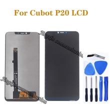 Dla Cubot P20 wyświetlacz LCD + ekran dotykowy cyfrowy konwerter 6.18 cal wymiana ekranu dla Cubot P20 telefon komórkowy części do naprawy