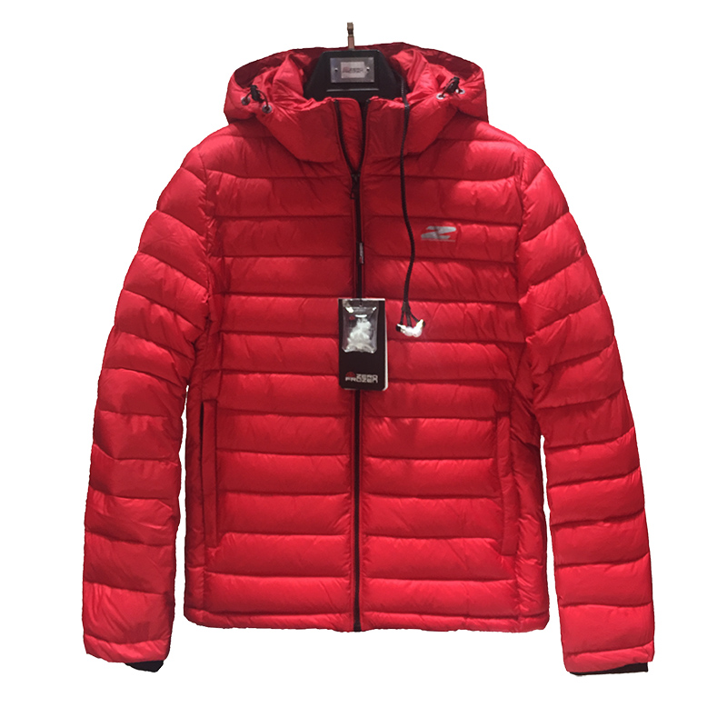 2019 High Quality Men Winter Jacket Fashion Red Cotton Jacket Puffer Jacket Bio-based Cotton Mens Winter Coat Brand Hooded Coat
