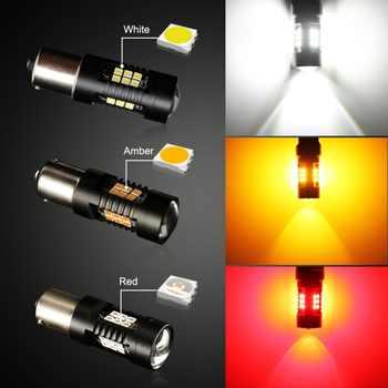 2Pcs 1156 BA15S P21W LED BAU15S PY21W BAY15D LED 1157 P21/5W R5W Canbus No Error Auto Lamp Bulbs Car LED Light 12V - 24V