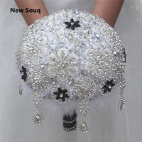 Stunning Crystal Beaded Wedding Bouquet Wedding Accessories High Quality Luxury Bouquets Bridal Bouquet