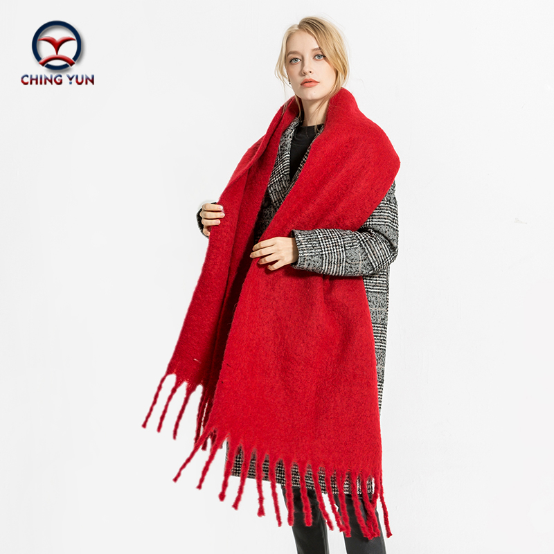 New fashion Spring winter ZA style long Soft Cashmere Warm Thickening Tassels shawls Sca ...