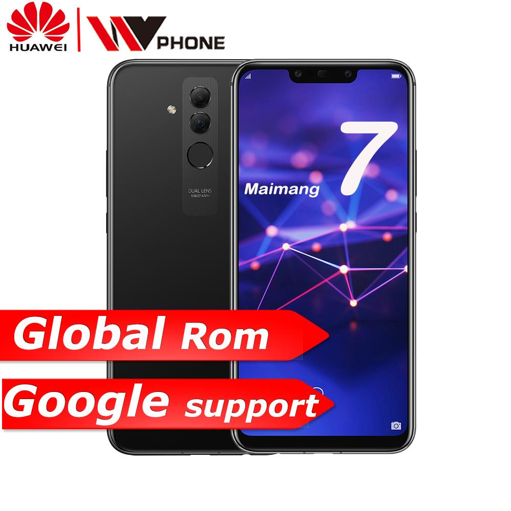 Companheiro 20 lite Huawei Maimang 7 Telemóvel Octa Core 6.3 de polegada Dual Câmera Traseira Frente 3750mAh Impressão Digital ID