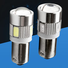 2 stücke BA9S T4W T11 233 363 Super helle 6 SMD 5630 5730 LED Auto parkplatz licht lesen Innen Lampen motor Lampen 12V 2X