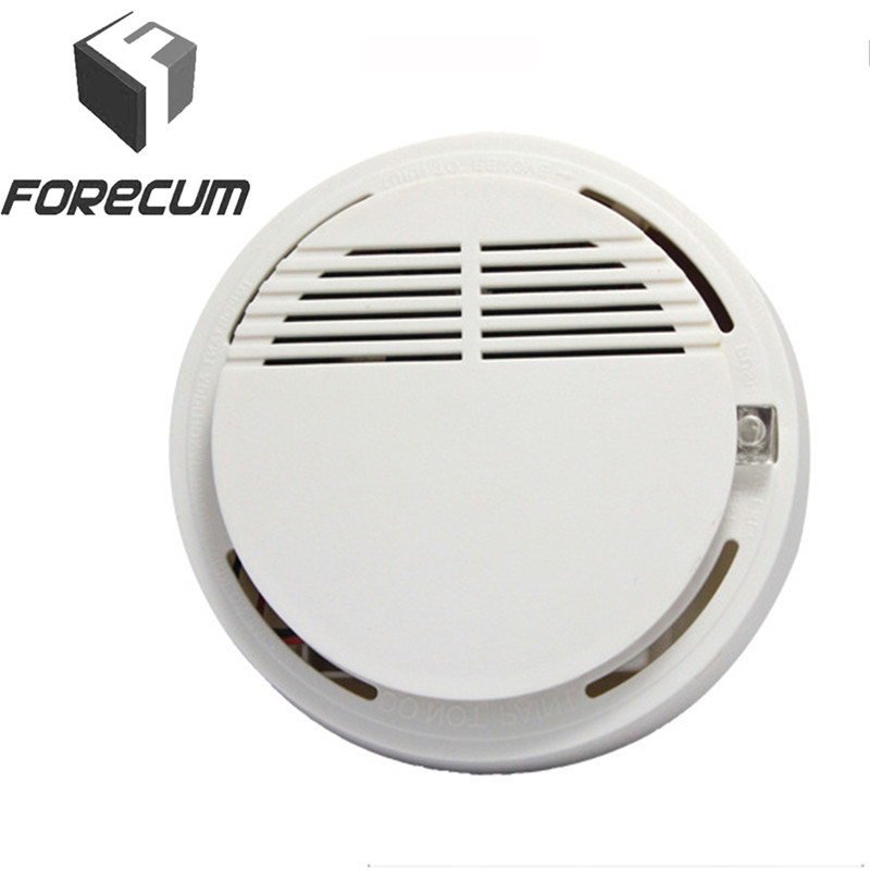 FORECUM Wireless Alarm Security Smoke Fire Detector 85dB Home Security System for Indoor Shop Photoelectric Smoke Alarm Sensor цены