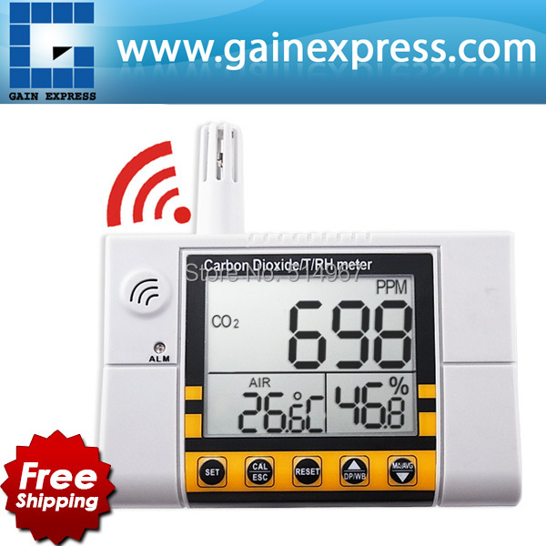 Digital Wall Mount Indoor  Air Quality  Temperature RH Carbon Dioxide CO2 Monitor Meter Sensor Controller 0~2000ppm Range  цены