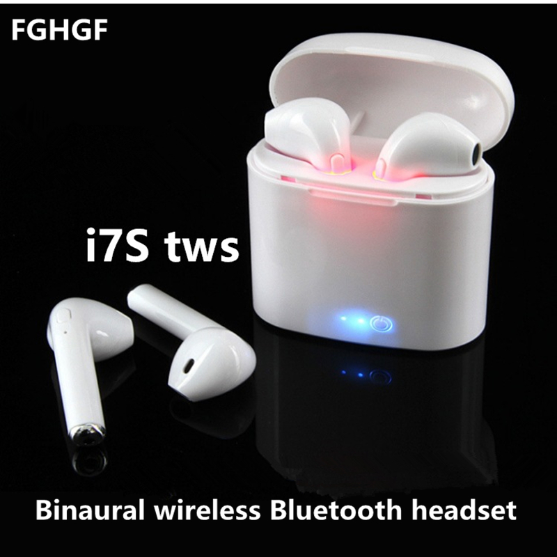 i7S TWS Binaural wireless Bluetooth headset Stereo Earbud Headset With Charging Box Mic For All Smart phone цена 2017