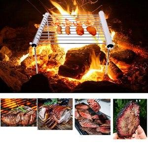 Image 2 - Открытый легкий разборка пищевой нержавеющей стали барбекю уголь Гриль Открытый Кемпинг портативный барбекю Мини плита
