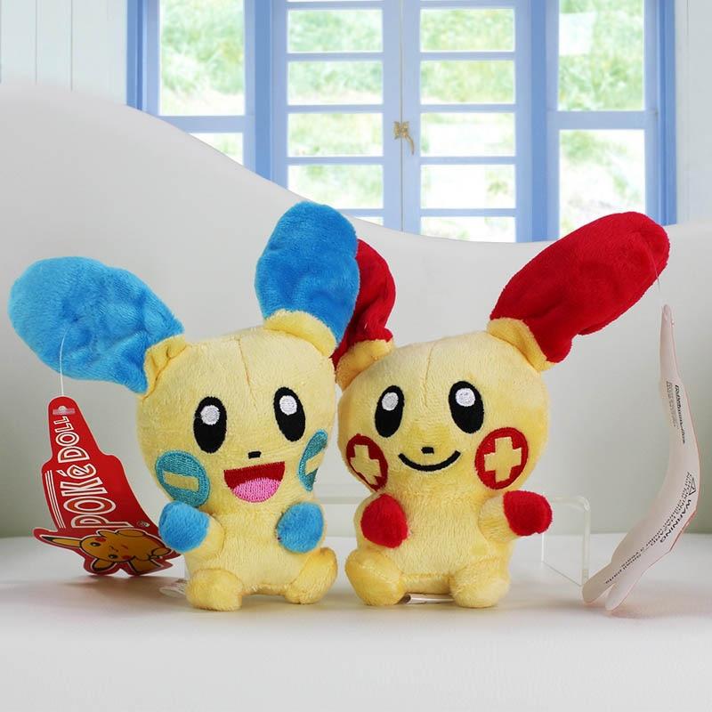 2Pcs Lot 2X Anime Plusle Minun Plush Toy Game Stuffed Animal Dolls Cute Gift For Kids