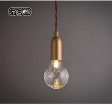 3W LED Nordic Vintage Glass Pendant Light For Restaurant Inner Coffee Bar Decorative Fixture