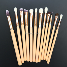 2016 High Quality quality 12 Pcs Eyeshadow Eyeliner Brush Blending Pencil Foundation Eye shadow Makeup Brushes