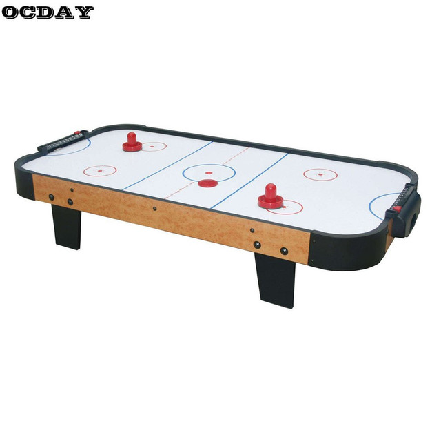 Mini Air Ice Hockey Table Game Toy 60/76/96mm 2 Pusher Goalies 4