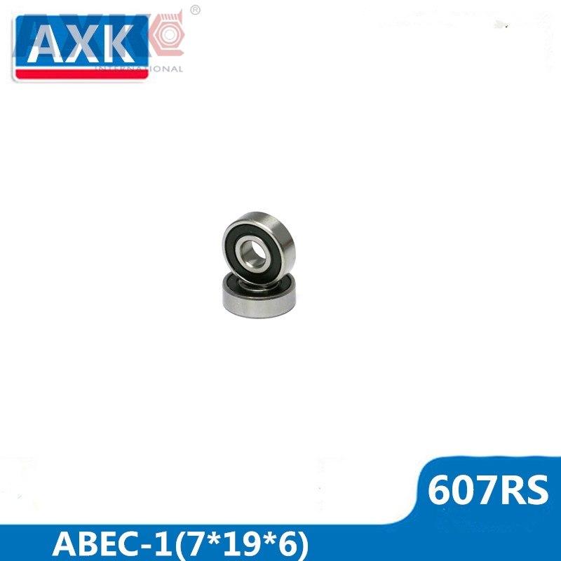 AXK 607RS Bearing ABEC-1 10PCS 7x19x6 mm Miniature 607 2RS Ball Bearings 607-2RS EMQ Z2 V1