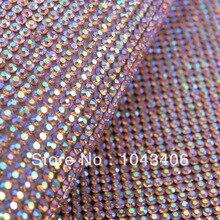 Phantasie neuesten hot fix ab farbe strass trimmen mesh wärme transferssuper schließen und 2mm ss6 stein kristall für diy zubehör