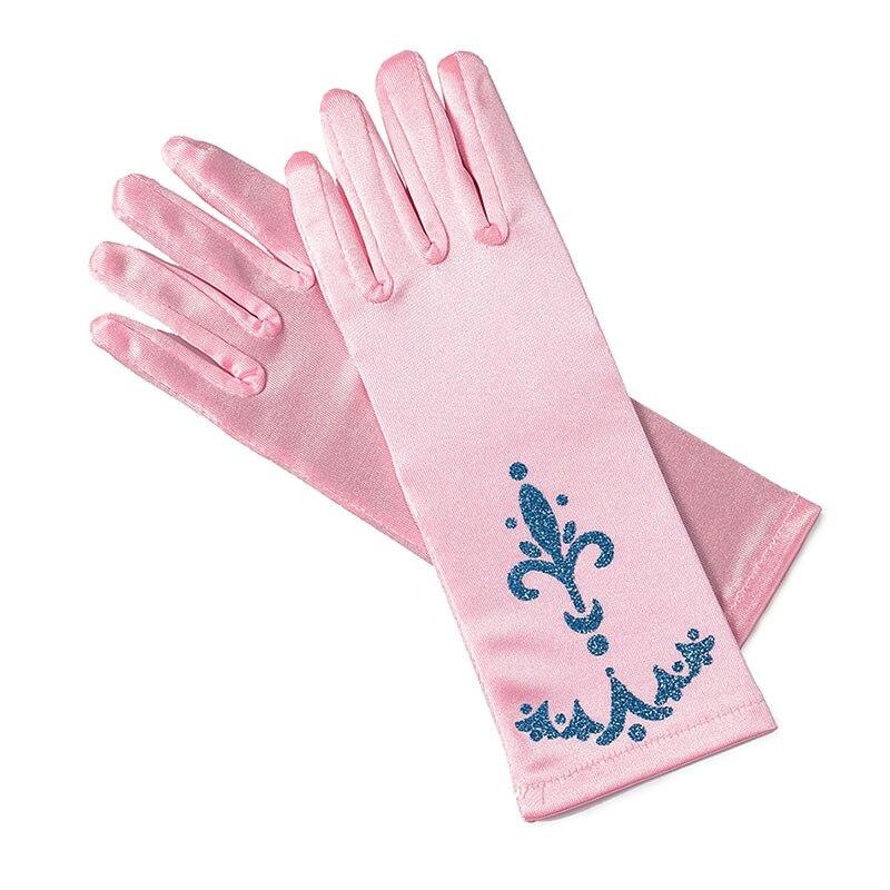 Accessories Girls Elegant Princess Flannelette Oversleeve Pink Blue Gold 3 Colors Children Party Dress-up Cinderella Aurora Beauty Gloves Mother & Kids
