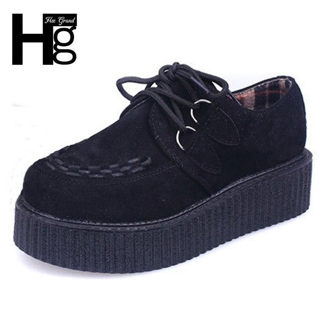Hee grand trepadeiras do vintage 2017 mulheres da moda sapatos de plataforma plana primavera outono para as mulheres atacado varejo xwx403