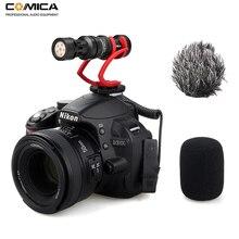 Comica CVM-VM10II Запись видео микрофон на камеру/телефон микрофон для Canon Nikon sony DSLR видеокамеры для iPhone samsung S9 S10