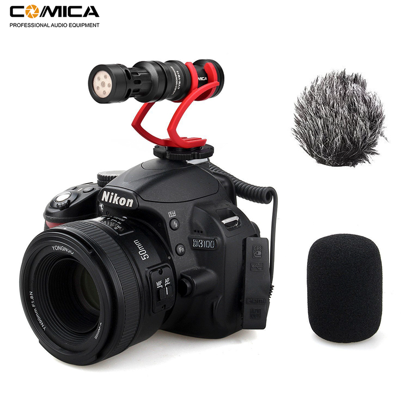 Comica CVM-VM10II Video Recording Mic On Camera / Phone Microphone For Canon Nikon Sony DSLR Camcorder For IPhone Samsung S9 S10
