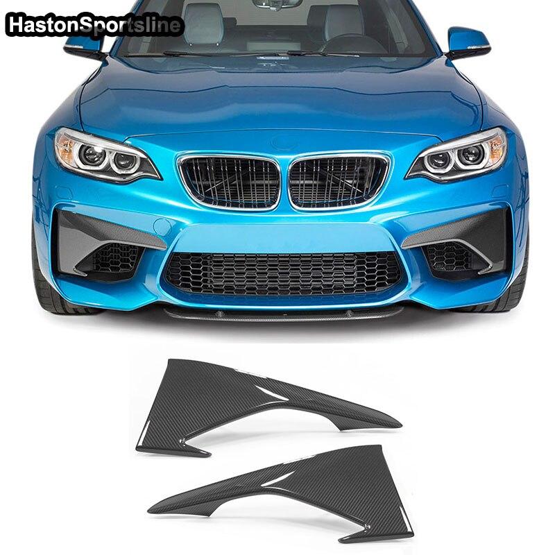 F87 M2 kit de carrosserie avant en Fiber de carbone tabliers séparateur pour BMW F87 M2 2016-2018