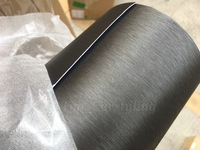 Low price 1.52x20m/roll Titanium brushed aluminum vinyl wrap car wrapping titanium brush stell wrap foil with bubble free