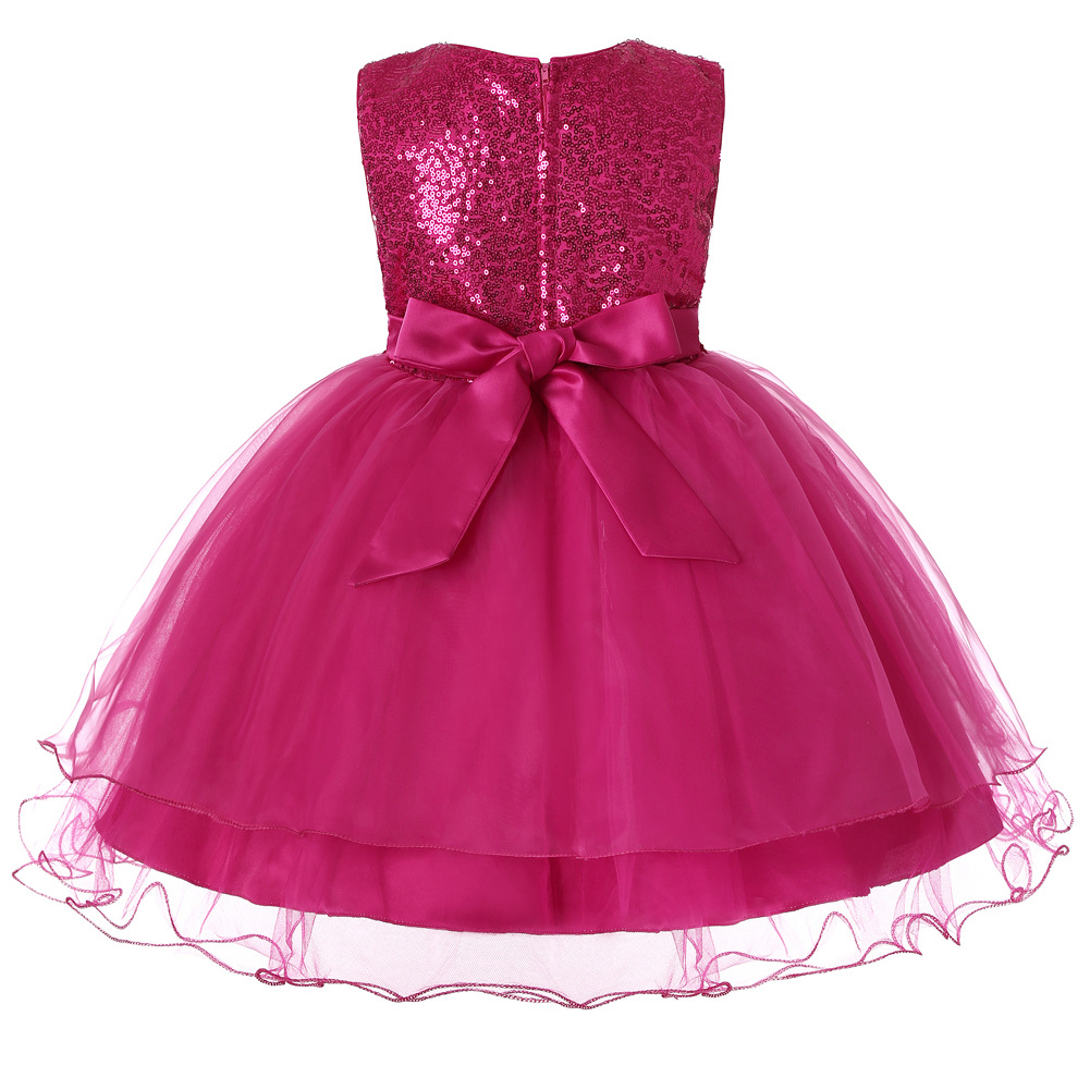 Luxury Sequined Princess Flower Girl Dress