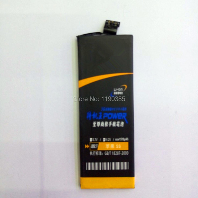 2017 Goods in stock Mobile phone battery 1510mAh For APPLE iphone 5S 5SE High capacity Super long standby New and Original