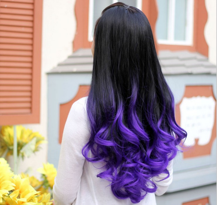 Women Hair Extensions Black Color Changing High Tempreture Natural