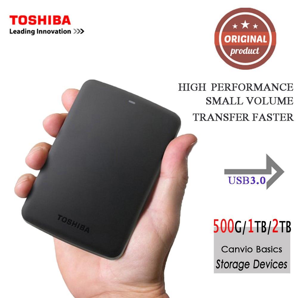 """Toshiba Canvio Basics HDD 2.5 """"USB 3.0 внешний Портативный жёсткий диск 2 ТБ 1 ТБ жесткий диск устройства хранения для рабочего стола ноутбук"""