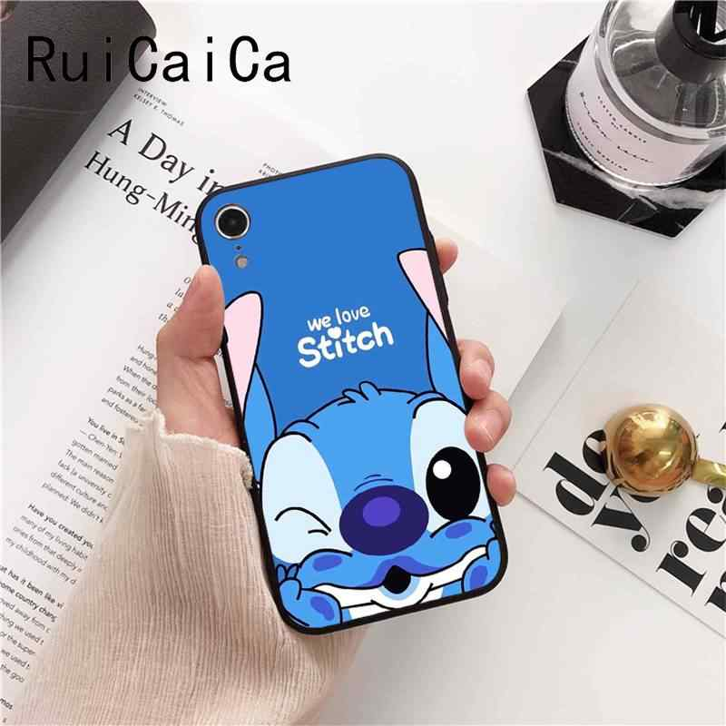 Ruicaica bonito dos desenhos animados Lilo Ponto Unique Luxury Design PhoneCase para iPhone 5 6 8 7 6 6 S Plus 5S SE XR X XS MAX Coque Shell