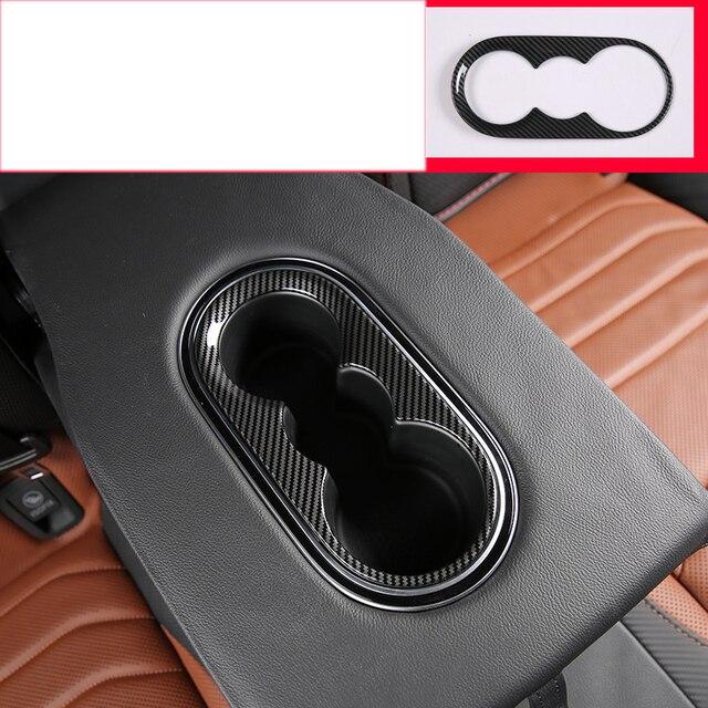lsrtw2017 carbon fiber car armrest cup frame trims decoration for volkswagen arteon 2017 2018 2019