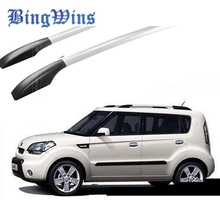 BingWins Car Styling For Kia Soul Car Roof Rack Aluminum Alloy Luggage Rack  Punch Free 1.6 Meters