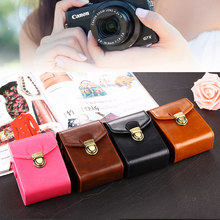 Hoge Kwaliteit PU Camera Tas Leather Case Voor Canon IXUS 285 265 245 240 230 220 190 185 182 180 177 175 170 162 160 132 130(China)