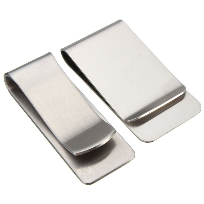 Money Clip Wallet Purse for Pocket Metal Money Holder Money Clip Cash Clamp Holder Portable Stainless Steel high quality stainless steel silver money clip double sided slim pocket cash id credit card clamp holder