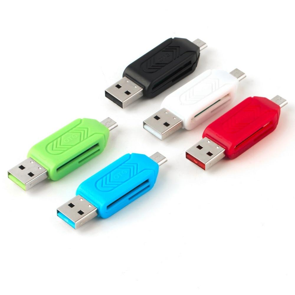 1 Pc Universal Kartenleser Handy Pc Kartenleser Micro Usb Otg Kartenleser Otg Tf Flash Memory Neueste Großhandel