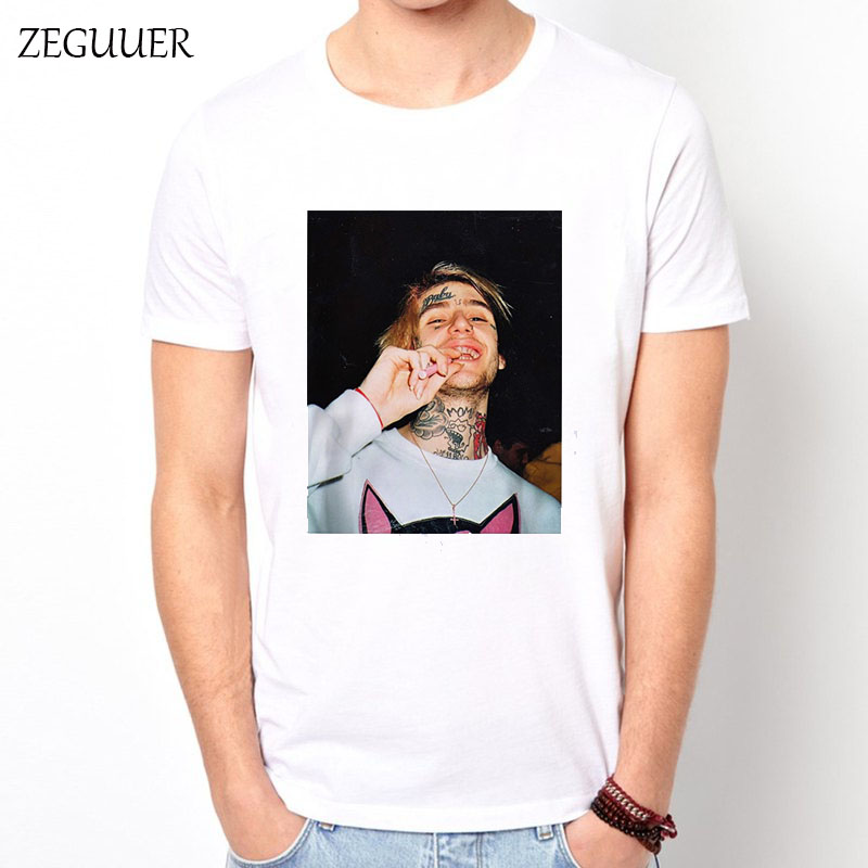 Rapper Lil Peep T Shirt Rap Emo Trap Hip Hop Lil Peep Harajuku Streetwear Print Fashion Wind Cotton Round Neck Men's T-shirt