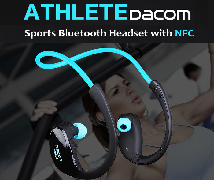 DACOM Armor IPX5 Waterproof Sports Headset Wireless Bluetooth V4.1 Earphone Ear-hook Running Headphone with Mic Music Playing гирлянда электрическая lunten ranta сосулька 20 светодиодов длина 2 85 м
