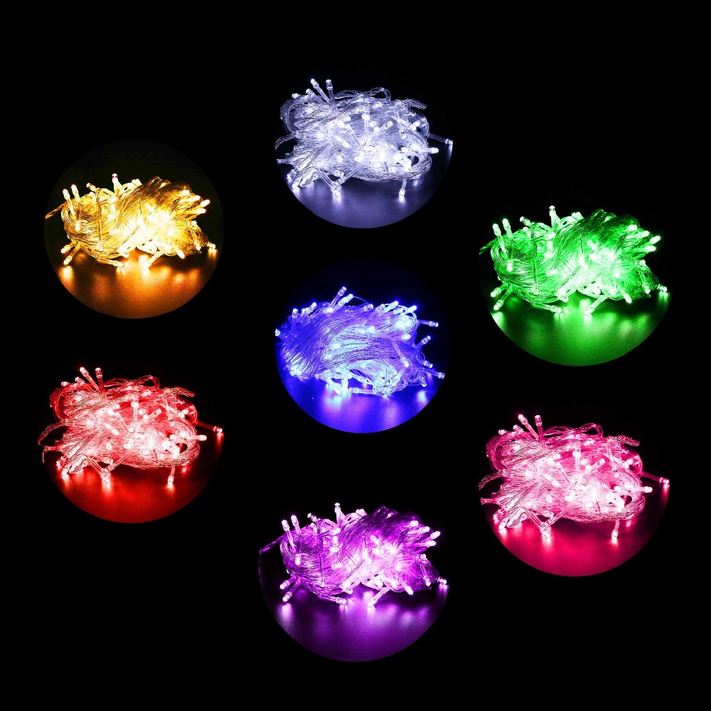 Multi Color Led String Lights 100 Leds Mini Bulb For Christmas Tree House Courtyard Party Garden Decor EU/US Plug Options L