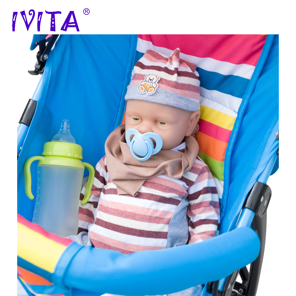 IVITA 46 cm Baby Doll Reborn Bambole Neonati Silicone Pieno Bambole Reborn Doll Vivo Ragazza Boneca In Silicone Reborn Completa giocattoli