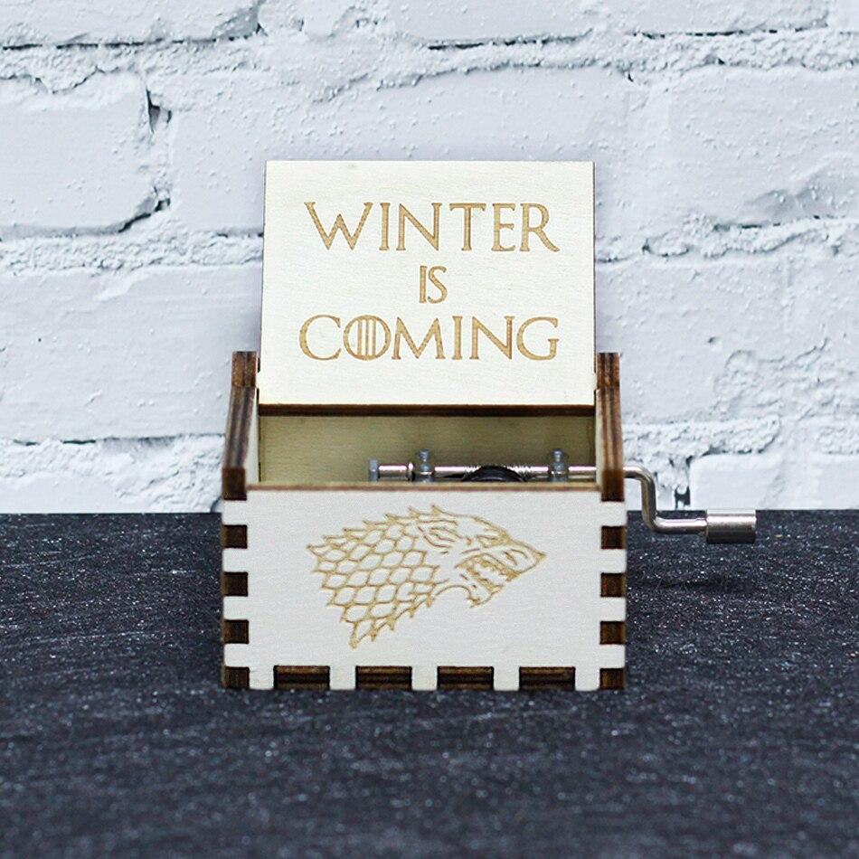 Горячая антикварная резная деревянная ручная кривошипная музыкальная шкатулка королевы Игра престолов для моей Goigeous жены тема музыкальная шкатулка Рождественский подарок на день рождения