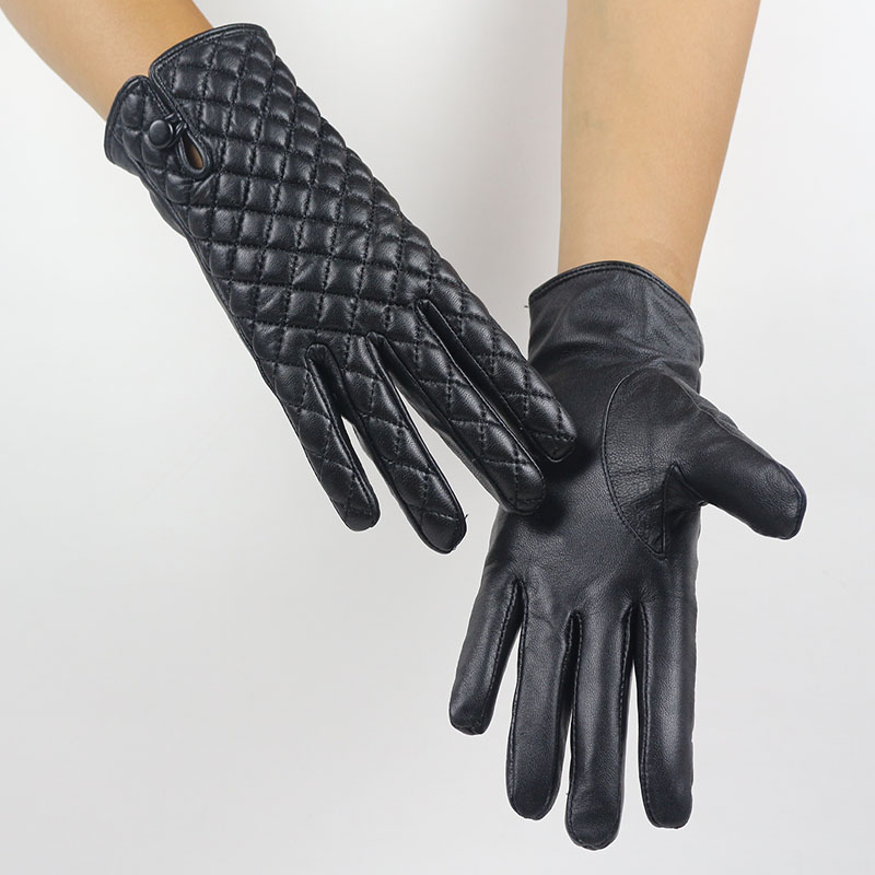 Automne et d'hiver de mode en peau de mouton gants dames en cuir plus de velours gants chauds gants d'équitation gants