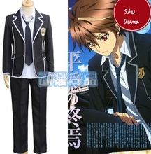 Shu Ouma Cosplay Costumes Anime Guilty Crown 2017 New Arrival Free Shipping (Blazer + Shirt + Pants + Necktie)