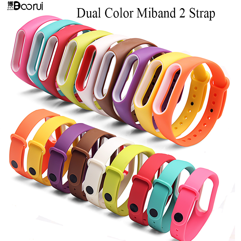 Colorful Silicone Wrist Strap Bracelet For Mi Band 2 Double Color Replacement Watchband Smart Band Accessories For Xiaomi Mi2 A Great Variety Of Models Back To Search Resultswatches Watchbands