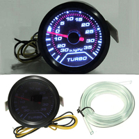 BYGD 2 52mm Universal Blue LED Autos Turbo Boost Gauge 12V 35 PSI Vacuum Pressure Meter