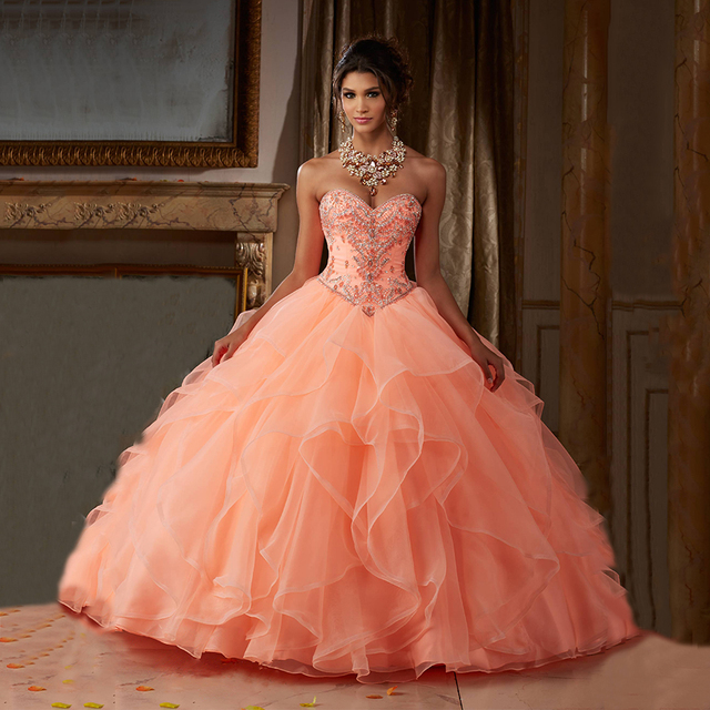 Peach 15 Dresses