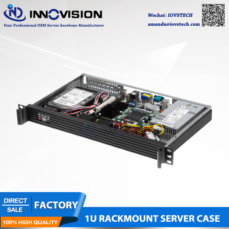 Compact Stylish Aluminum Front-panel 1U Rackmount Server Case RX1250