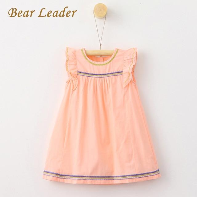 Bear Leader Girls Dresses 2018 Summer Style Sleeveless Children