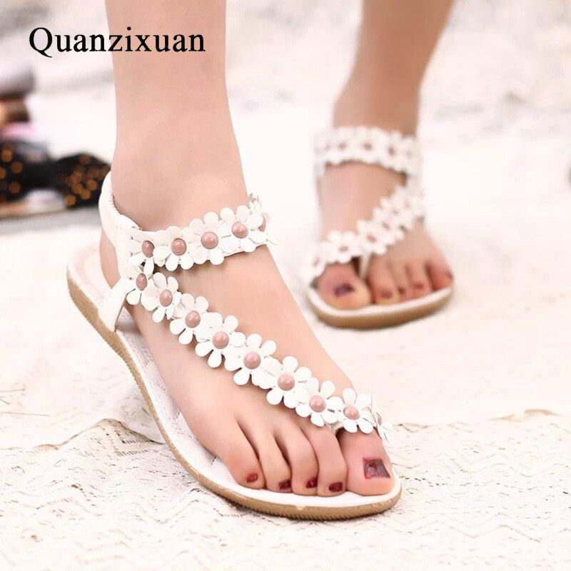 Summer Women Sandals Flower Shoes Women Fashion Flat Sandals Females Shoes Ladies Sandals girl shoes in sri lanka