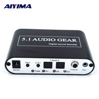 AIYIMA DTS AC3 Audio Decoder Music Player Dolby Digital Fiber To Analog USB 5 1 Channel