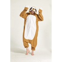 Adult Kigurumi Onesie Anime Women Costume Sloth Halloween Cosplay Cartoon Animal Sleepwear Winter Warm Hooded Pajama