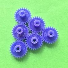 Model Gears Four-Wheel-Drive Plastic DIY Micro Blue J424Y 10pcs Technology-Toys Car-Using