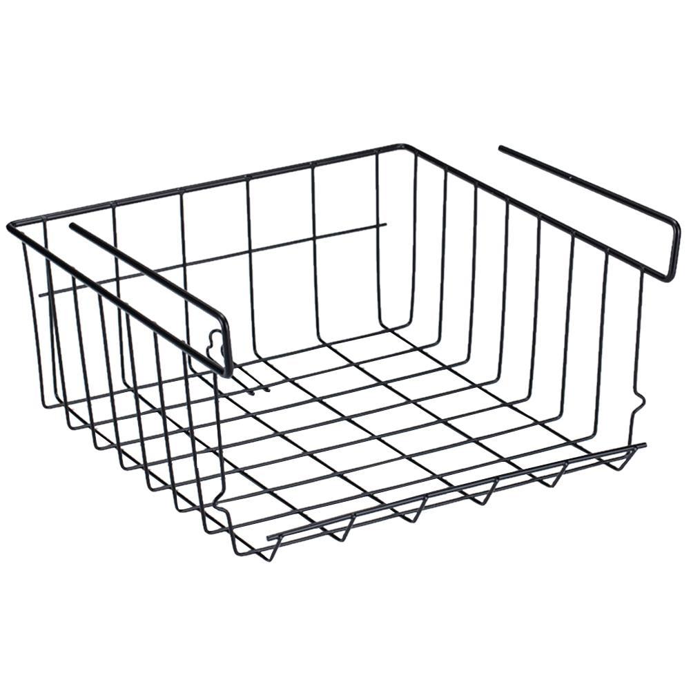 Multi-functional Storage Wire Basket Rack Under Cabinet
